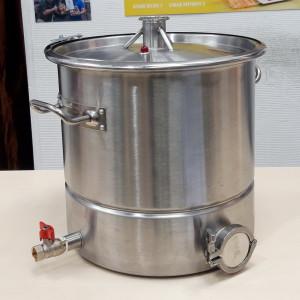 Перегонный куб АЛКАШ 25 литров кламп 1,5 под ТЭН с зиговкой