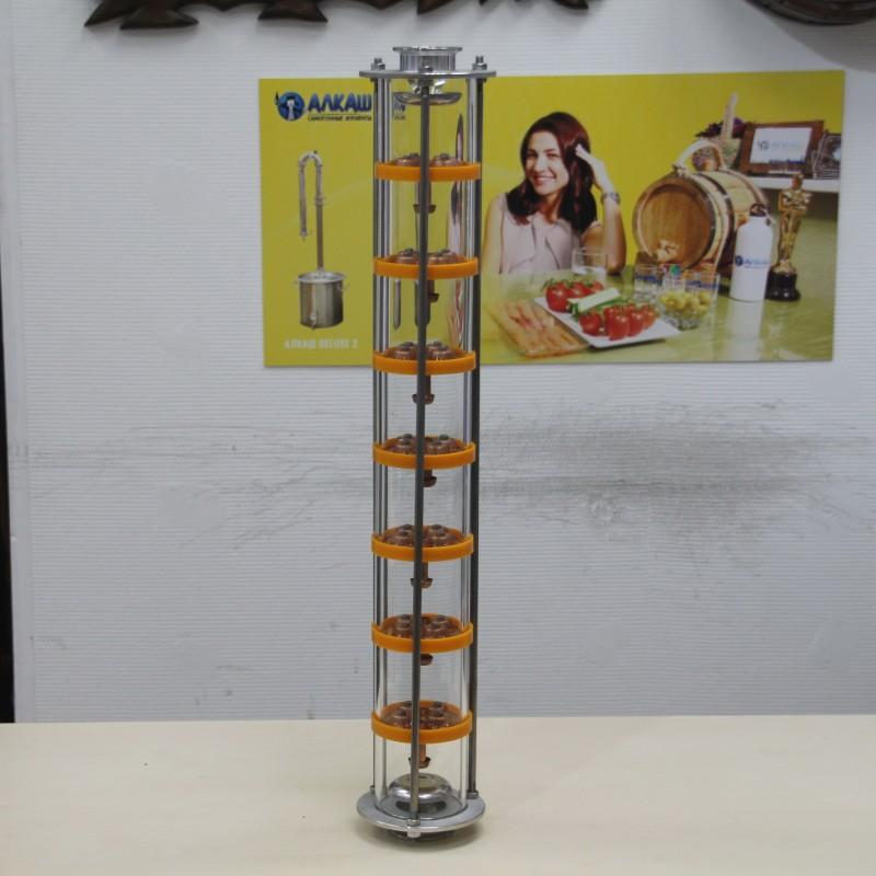 Колпачково-тарельчатая колонна Добрый Жар, 7 тарелок из меди