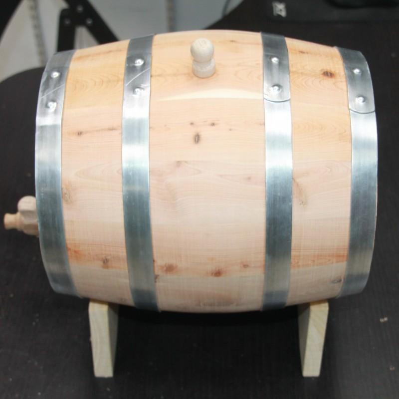 Бочка из можжевельника 5 л на подставке с краном (Сербия)