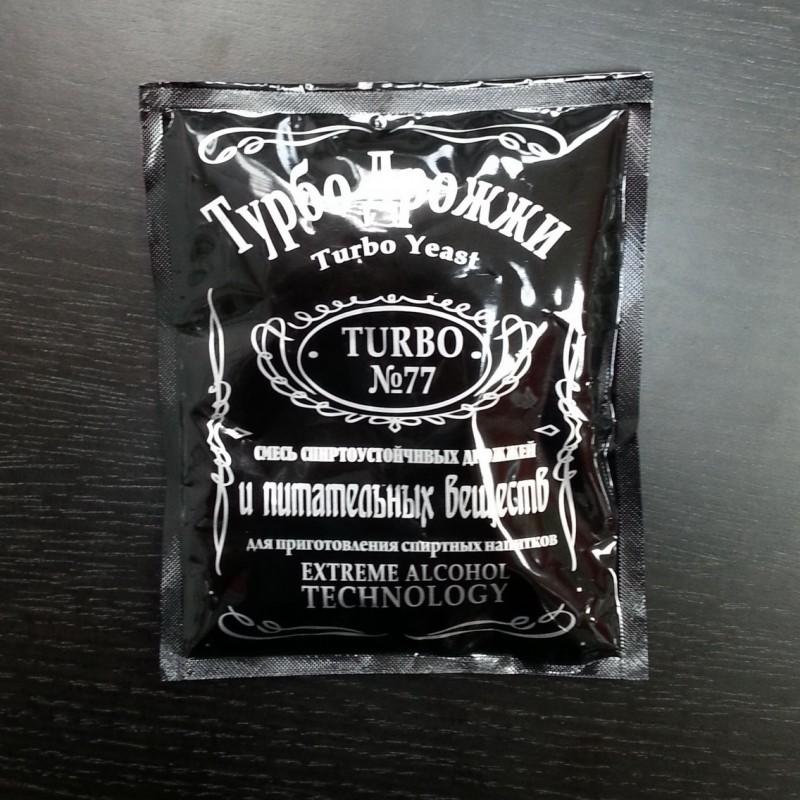 Турбо дрожжи спиртовые «Турбо №77», 120 гр