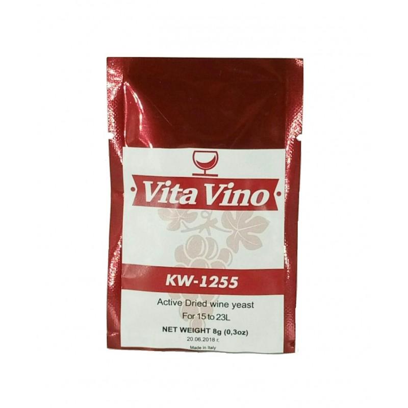 Дрожжи винные Vita Vino KW-1255, 8 гр (для красных вин из винограда и ягод)