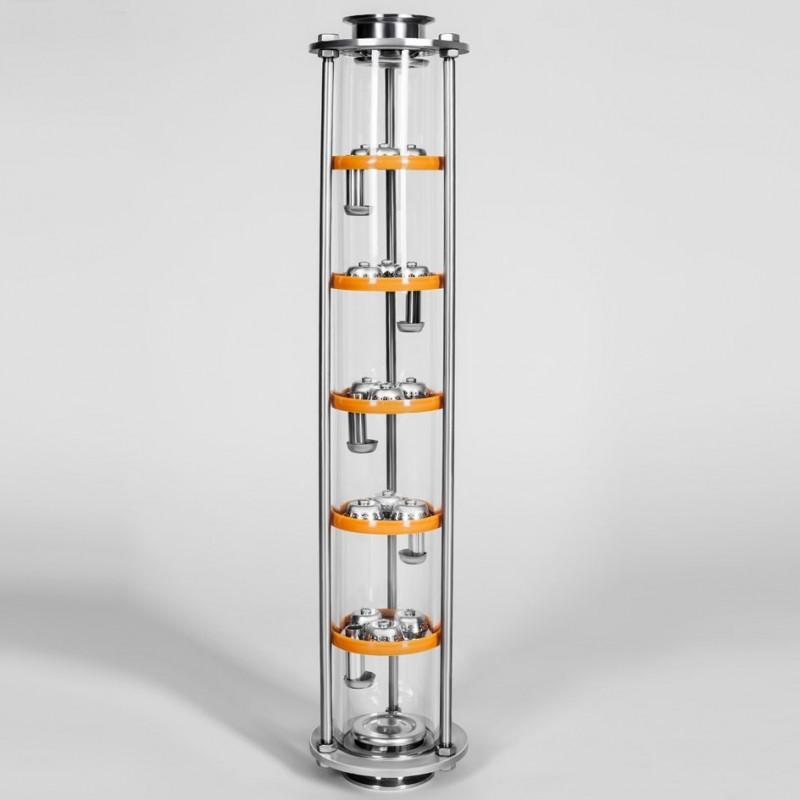 Колпачково-тарельчатая колонна Добрый Жар, 5 тарелок(стекло)
