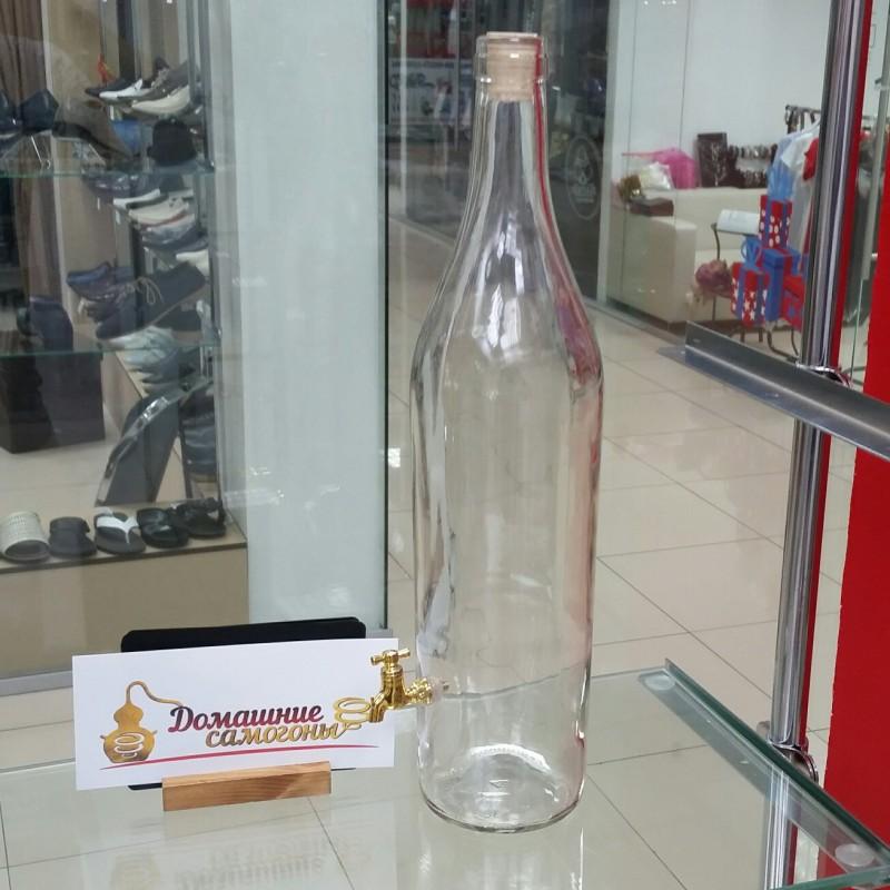 Бутылка «Русская Четверть» с краником 3,075 л