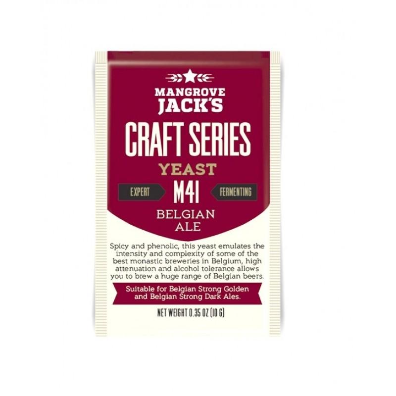 Дрожжи Mangrove Jack's M41 Belgian Ale, 10 гр