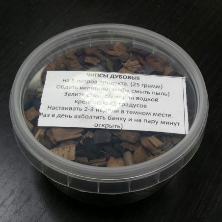 Дубовые чипсы для настаивания самогона (средний обжиг), 80 грамм